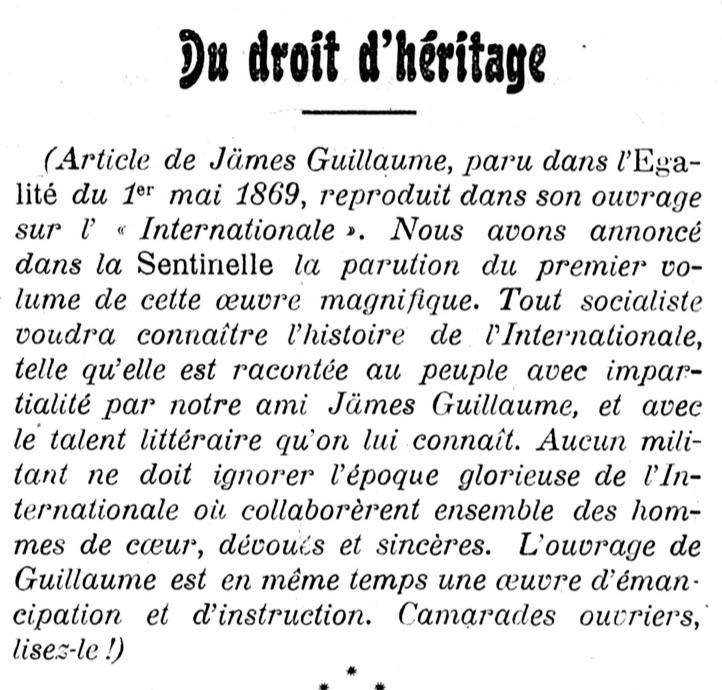 Du droit d'héritage-1906